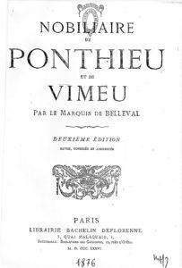Nobiliaire de Ponthieu et de Vimeu