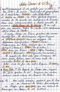 Complément manuscrit sur O Pie