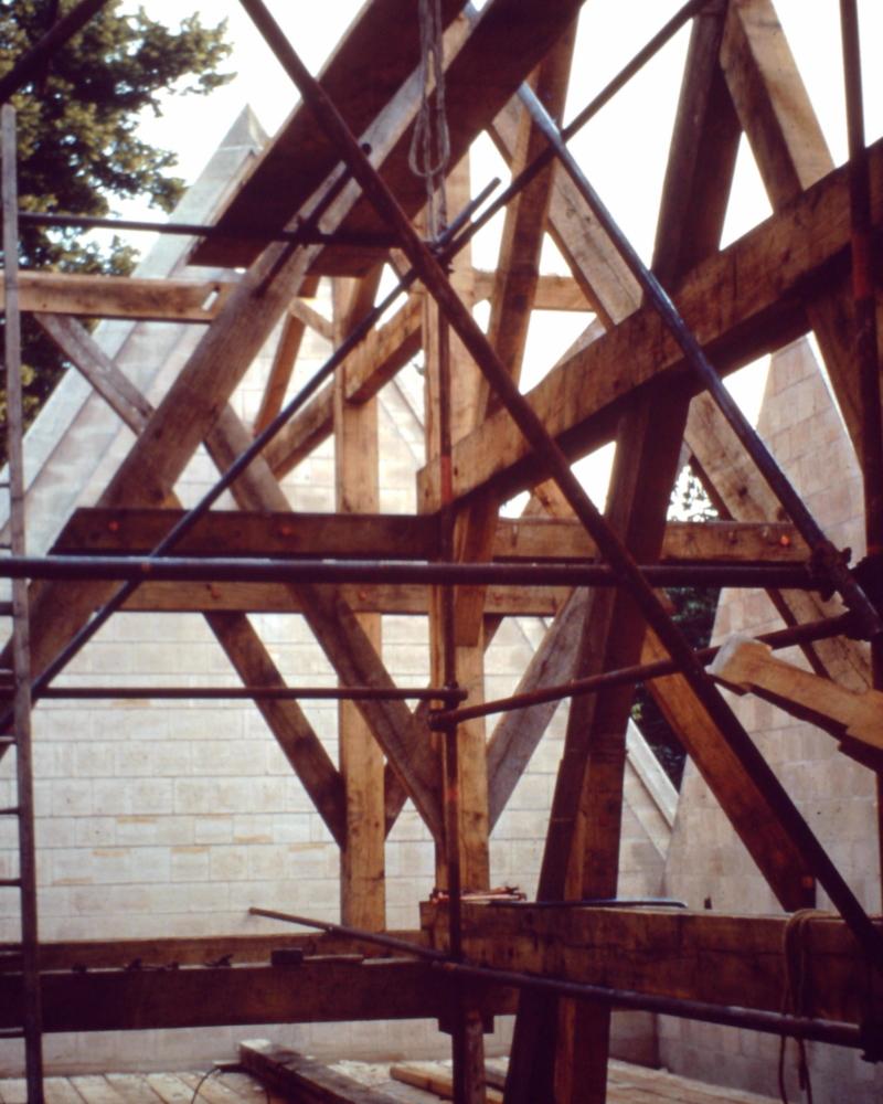 Reconstruction de la charpente de l'église Saint Sulpice de Huppy